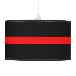 Thin Red Line Symbolic Memorial on a Pendant Lamp