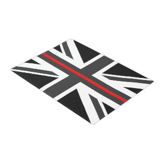Thin Red Line UK Flag Doormat