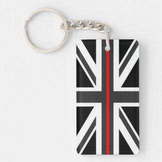 Thin Red Line UK Flag Keychain