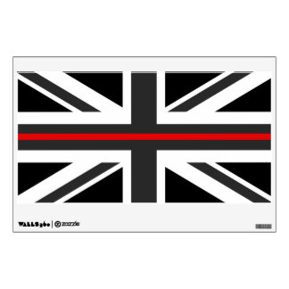 Thin Red Line UK Flag Wall Decal