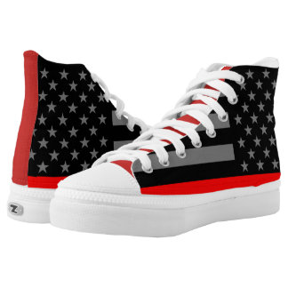 Thin Red Line US Flag graphic on High Tops