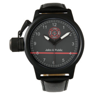 Thin Red Line Watch