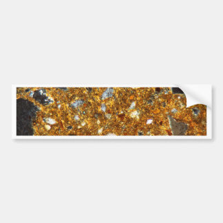 Thin section of a brick under the microscope bumper sticker