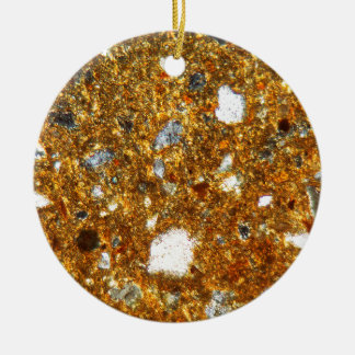 Thin section of a brick under the microscope ceramic ornament