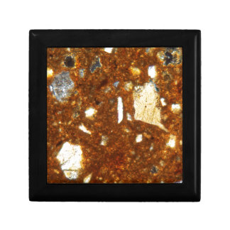 Thin section of a brick under the microscope gift box
