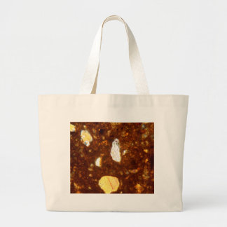 Thin section of a brick under the microscope large tote bag