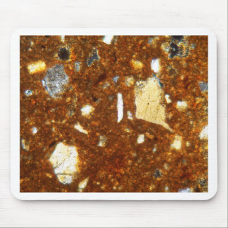 Thin section of a brick under the microscope mouse pad