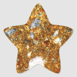 Thin section of a brick under the microscope star sticker