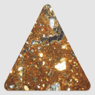 Thin section of a brick under the microscope triangle sticker