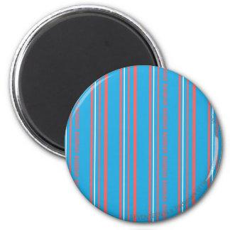 Thin Stripes Aqua 2 Inch Round Magnet