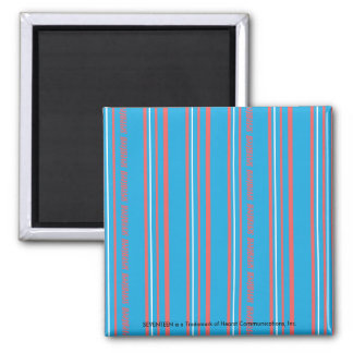 Thin Stripes Aqua Refrigerator Magnets