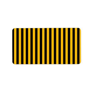 Thin Stripes - Black and Amber