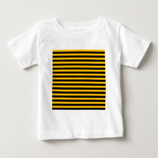 Thin Stripes - Black and Amber Baby T-Shirt