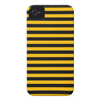 Thin Stripes - Black and Amber iPhone 4 Cover