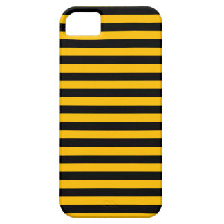 Thin Stripes - Black and Amber iPhone 5 Cases