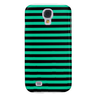 Thin Stripes - Black and Caribbean Green