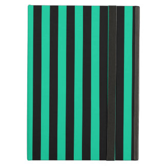 Thin Stripes - Black and Caribbean Green Case For iPad Air