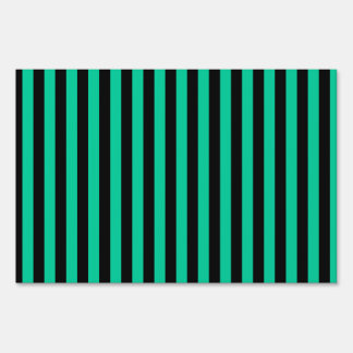 Thin Stripes - Black and Caribbean Green Sign