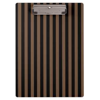 Thin Stripes - Black and Coffee Clipboard