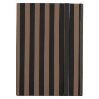 Thin Stripes - Black and Coffee iPad Air Cover