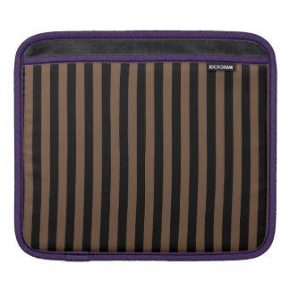 Thin Stripes - Black and Coffee iPad Sleeve