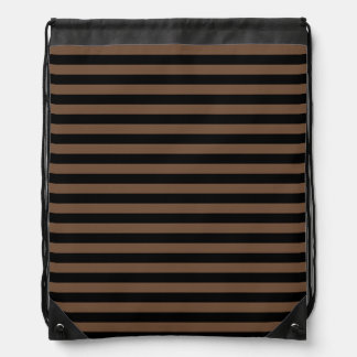 Thin Stripes - Black and Coffee Backpack