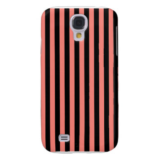 Thin Stripes - Black and Coral Pink