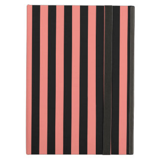 Thin Stripes - Black and Coral Pink Case For iPad Air