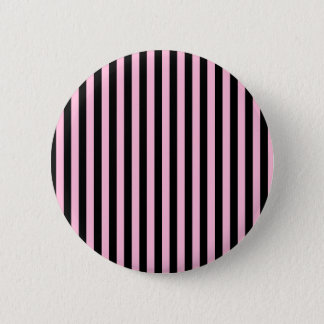 Thin Stripes - Black and Cotton Candy 2 Inch Round Button