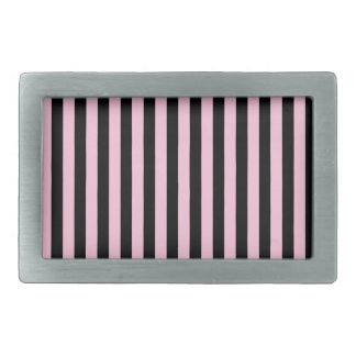 Thin Stripes - Black and Cotton Candy Belt Buckles