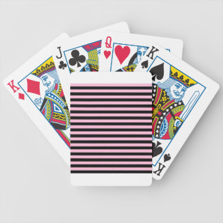 Thin Stripes - Black and Cotton Candy Bicycle Playing Cards