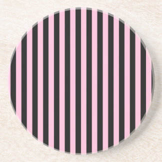 Thin Stripes - Black and Cotton Candy Coaster