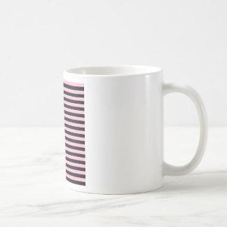 Thin Stripes - Black and Cotton Candy Coffee Mug