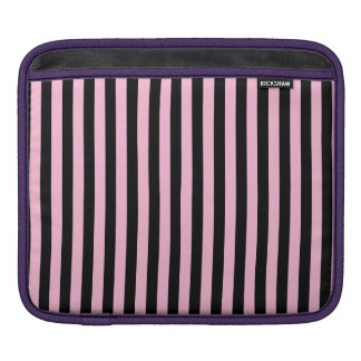 Thin Stripes - Black and Cotton Candy iPad Sleeve