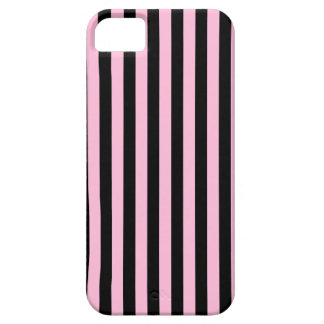 Thin Stripes - Black and Cotton Candy iPhone 5 Cover