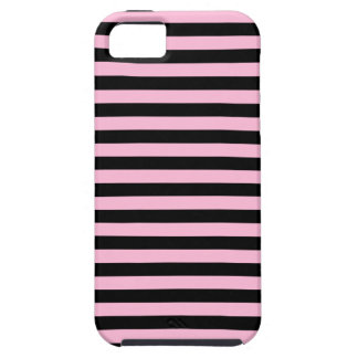 Thin Stripes - Black and Cotton Candy iPhone 5 Covers
