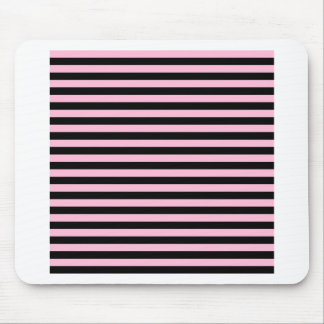 Thin Stripes - Black and Cotton Candy Mouse Pad