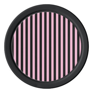 Thin Stripes - Black and Cotton Candy Poker Chips