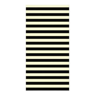 Thin Stripes - Black and Cream Customized Photo Card