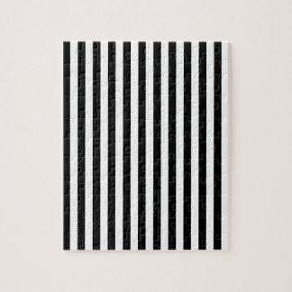 Thin Stripes - Black and Cream Jigsaw Puzzle