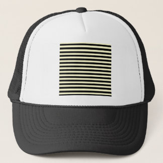 Thin Stripes - Black and Cream Trucker Hat