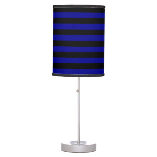Thin Stripes - Black and Dark Blue Desk Lamps