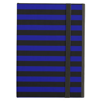 Thin Stripes - Black and Dark Blue iPad Air Case