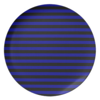 Thin Stripes - Black and Dark Blue Plate