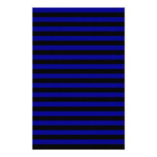Thin Stripes - Black and Dark Blue Stationery