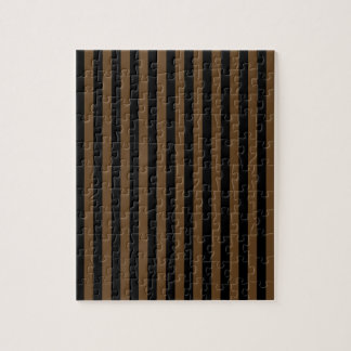 Thin Stripes - Black and Dark Brown Jigsaw Puzzle