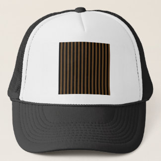 Thin Stripes - Black and Dark Brown Trucker Hat