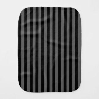 Thin Stripes - Black and Dark Gray Burp Cloth