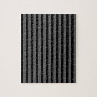 Thin Stripes - Black and Dark Gray Jigsaw Puzzle