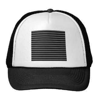 Thin Stripes - Black and Dark Gray Trucker Hat